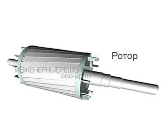 Ротор асинхронного трехфазного электродвигателя