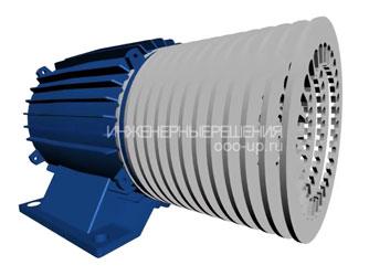 Конструкция шихтованного сердечника асинхронного трехфазного электродвигателя