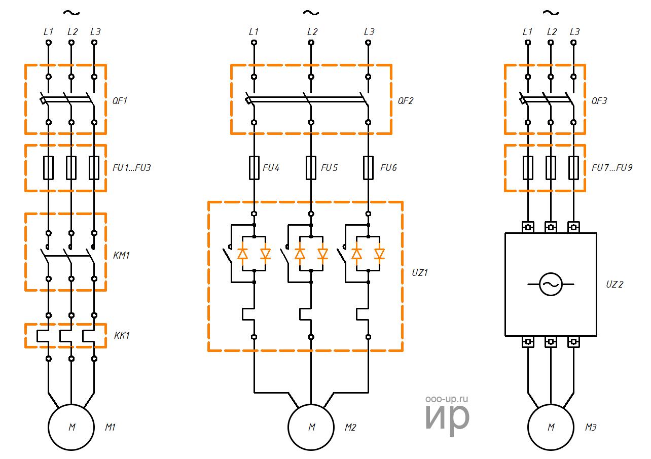 Схема подключения трех фазных двигателей фото 221
