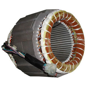 Motor stator with distributed winding