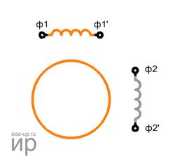 Схема биполярного двухфазного шагового двигателя