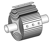 Аксиально-расслоенный ротор