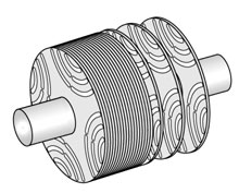 Transversally laminated rotor