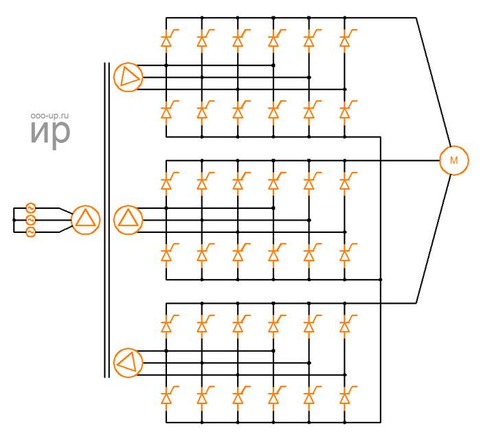 Схема циклоконвертера