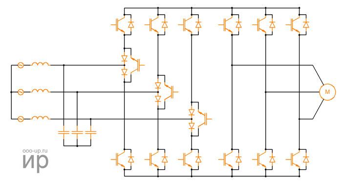 Схема разреженного матричного преобразователя